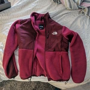 Women's small pink North face zip up jacket